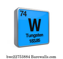 Art print of tungsten element periodic table barewalls posters tungsten element periodic table urtaz Image collections