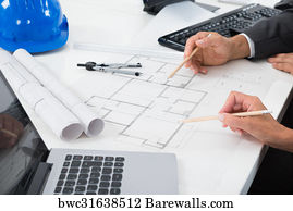 28226 blueprint paper posters and art prints barewalls blueprint paper art print poster two architects working on blueprint malvernweather Images