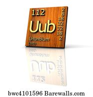 6 uub posters and art prints barewalls uub art print poster ununbium periodic table of elements wood board urtaz Choice Image