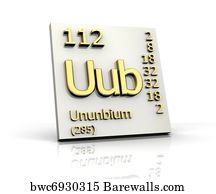 6 uub posters and art prints barewalls uub art print poster ununbium periodic table of elements urtaz Choice Image