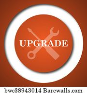 Upgrade Button Art Print Poster