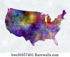 Colorful Map Of Usa.40 554 Colorful Map Posters And Art Prints Barewalls