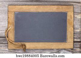 chalkboard blank art print poster very old slate chalkboard blank for to write on