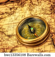 7610 treasure map posters and art prints barewalls treasure map art print poster vintage compass lies on an ancient world map gumiabroncs Gallery