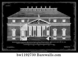 75955 building plans posters and art prints barewalls building plans art print poster vintage facade blueprint ii malvernweather Image collections