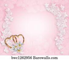 Wedding Invitation Background Pink