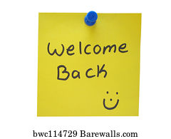 welcome back art print poster welcome back