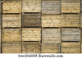 Wooden Crates Art Print Poster