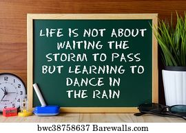 Art Print Of Typographic Quote Learning To Dance In The Rain