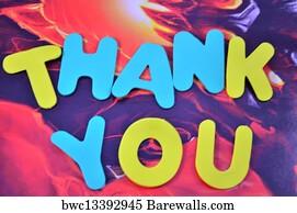 art print of word thankyou barewalls posters prints bwc13392945