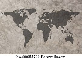 275 india vintage map posters and art prints barewalls india vintage map art print poster world map on grunge concrete wall texture background gumiabroncs Choice Image