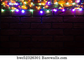 free fancy borders frames art print poster wreath and garlands of colored light bulbs