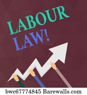 7ff17256d179b Zigzag Rule Art Print Poster - Writing Note Showing Labour Law. Business  Photo Showcasing Rules