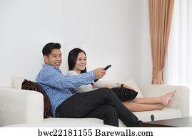 Young asian teen couple
