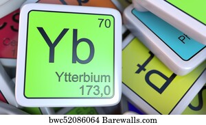 61 periodic table of the elements ytterbium posters and art prints periodic table of the elements ytterbium art print poster ytterbium yb block on the pile urtaz Choice Image