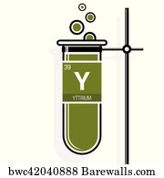 72 yttrium posters and art prints barewalls yttrium art print poster yttrium symbol on label in a green test tube with holder urtaz Images