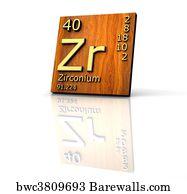 Art print of periodic table of the elements zirconium barewalls art print poster zirconium form periodic table of elements wood board urtaz Gallery