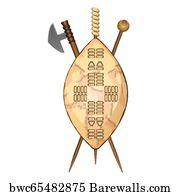 60 Zulu shield Posters and Art Prints | Barewalls